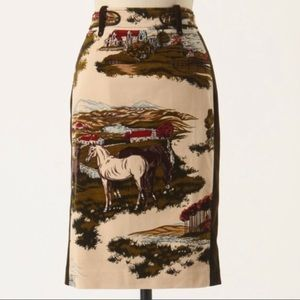 Anthropologie Cartonnier Horse Skirt